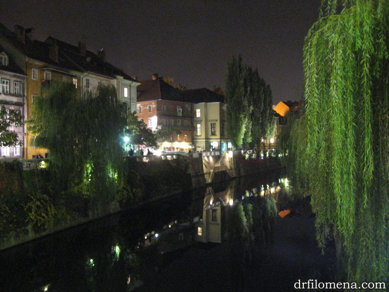 Beautiful Ljubljana at Night