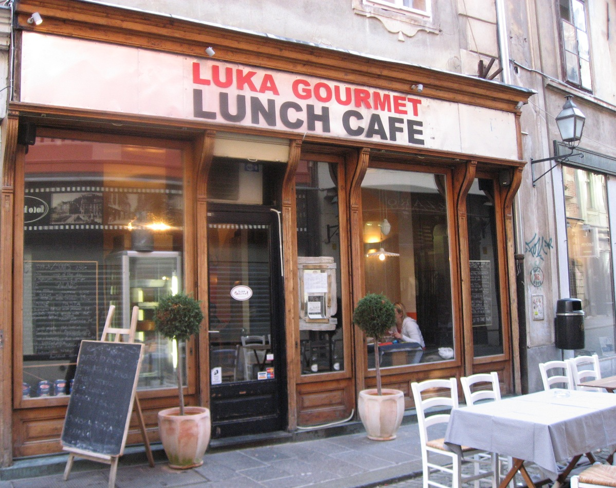 Luka Cafe in Ljubljana